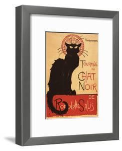 Montmarte, France - Chat Noir Cabaret Troupe Black Cat Promo Poster by Lantern Press