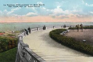 Montreal, Quebec - Mount Royal Look-Out Terrace Scene by Lantern Press