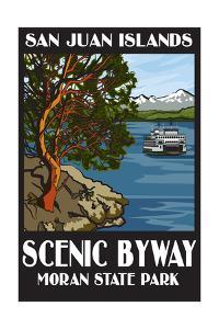Moran State Park - San Juan Islands, Washington - Scenic Byway by Lantern Press