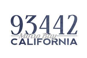 Morro Bay, California - 93442 Zip Code (Blue) by Lantern Press