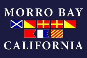 Morro Bay, California - Nautical Flags by Lantern Press