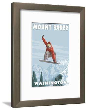 Mount Baker, Washington - Snowboarder Jumping
