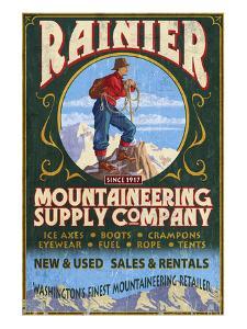 Mount Rainier - Mountaineering Supply Company by Lantern Press