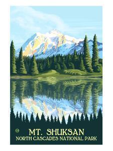 Mount Shuksan - North Cascades National Park, WA by Lantern Press