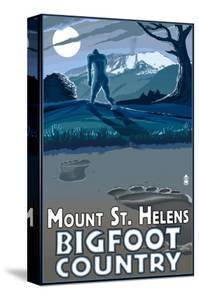 Mount St. Helens - Bigfoot Scene by Lantern Press