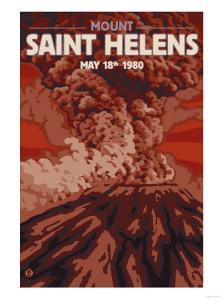 Mount St. Helens Eruption, Washington, May 18, 1980 by Lantern Press
