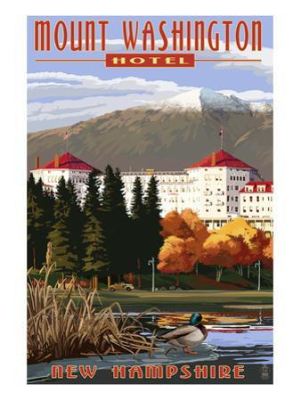 Mount Washington Hotel in Fall - Bretton Woods, New Hampshire by Lantern Press