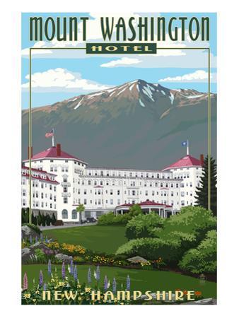 Mount Washington Hotel in Spring - Bretton Woods, New Hampshire by Lantern Press