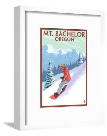 Mt. Bachelor, Oregon - Snowboarder Scene