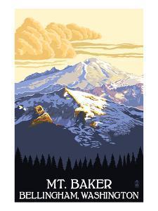 Mt. Baker, Washington by Lantern Press