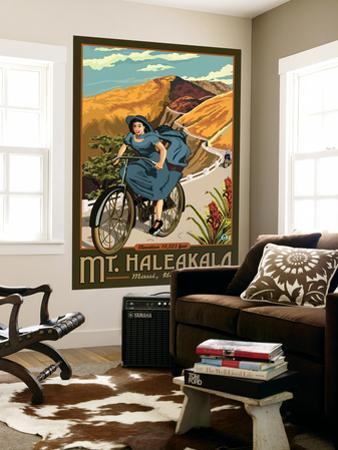 Mt. Haleakala Bicycle Rides, Hawaii by Lantern Press