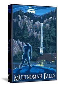 Multnomah Falls, Oregon - Bigfoot by Lantern Press
