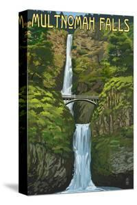 Multnomah Falls, Oregon - Summer View by Lantern Press