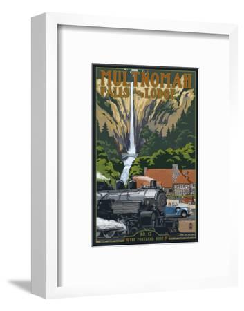 Multnomah Falls - Train and Cars