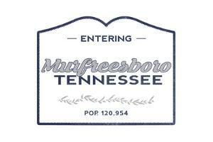 Murfreesboro, Tennessee - Now Entering (Blue) by Lantern Press