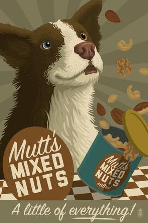 Mutt - Retro Mixed Nuts Ad by Lantern Press