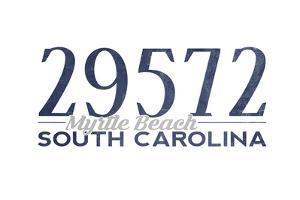 Myrtle Beach, South Carolina - 29572 Zip Code (Blue) by Lantern Press