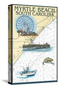 Myrtle Beach, South Carolina - Nautical Chart by Lantern Press