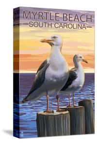 Myrtle Beach, South Carolina - Seagulls by Lantern Press