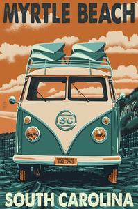Myrtle Beach, South Carolina - VW Van by Lantern Press