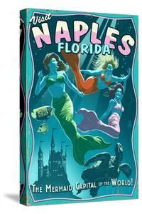 Naples, Florida - Live Mermaids by Lantern Press