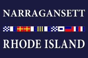 Narragansett, Rhode Island - Nautical Flags by Lantern Press