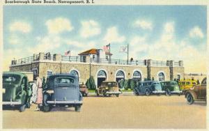 Narragansett, Rhode Island, View of Scarborough State Beach by Lantern Press