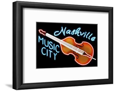 Nashville, Tennesse - Neon Cello Sign