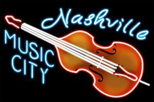 Nashville, Tennesse - Neon Cello Sign by Lantern Press