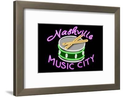 Nashville, Tennesse - Neon Drum Sign