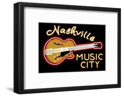 Nashville, Tennesse - Neon Guitar Sign