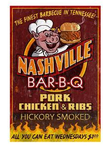 Nashville, Tennessee - Barbecue by Lantern Press