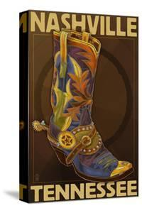 Nashville, Tennessee - Boot by Lantern Press
