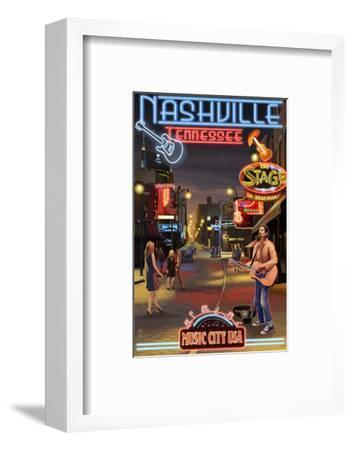 Nashville, Tennessee - Broadway at Night