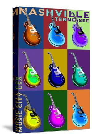Nashville, Tennessee - Guitar Pop Art