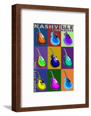 Nashville, Tennessee - Guitar Pop Art