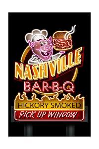 Nashville, Tennessee - Neon BBQ Sign by Lantern Press