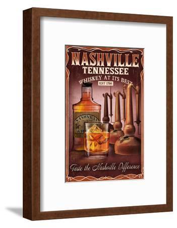 Nashville, Tennessee - Whiskey Vintage Sign