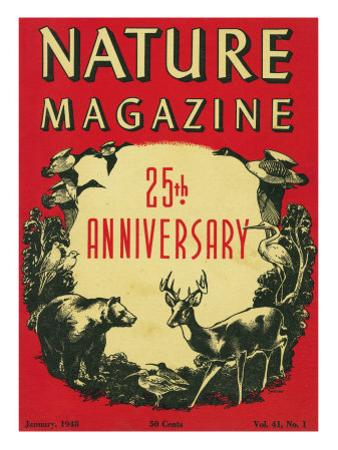 Nature Magazine - 25th Anniversary Issue, View of Wildlife and Birds, c.1948