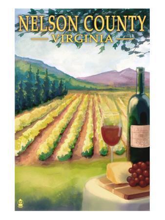 Nelson County, Virginia - Vineyard Scene