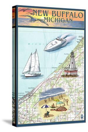 New Buffalo, Michigan - Nautical Chart