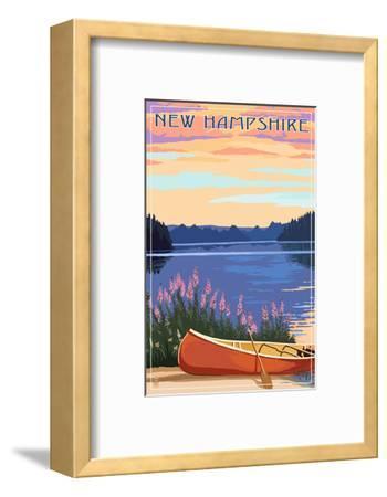 New Hampshire - Canoers on Lake