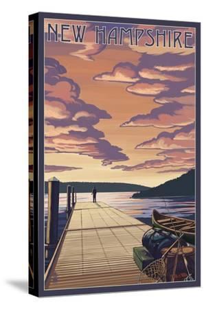 New Hampshire - Dock Scene and Lake