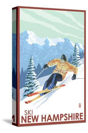 New Hampshire - Downhill Skier