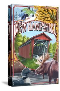 New Hampshire - Montage Scenes by Lantern Press