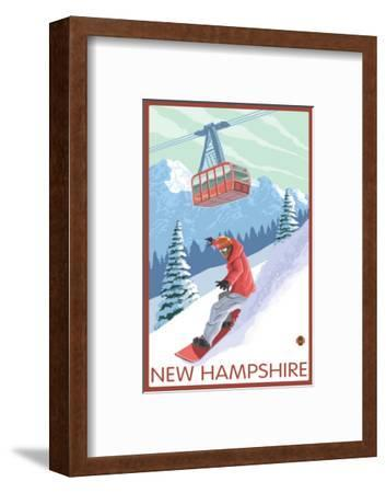 New Hampshire - Snowboarder and Tram