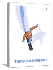 New Hampshire, Stylized Snowboarder by Lantern Press