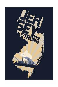 New Jersey - Jersey Strong by Lantern Press