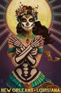 New Orleans, Louisiana - Day of the Dead Crossbones by Lantern Press