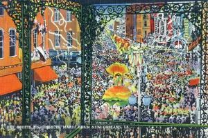 New Orleans, Louisiana - Mardi Gras Parade; Rex Greets Subjects by Lantern Press